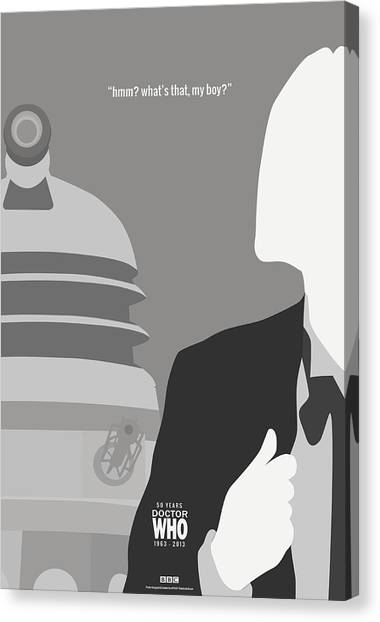 Doctor Who Canvas Print - Doctor Who 50th Anniversary Poster Set First Doctor by Jeff Bell