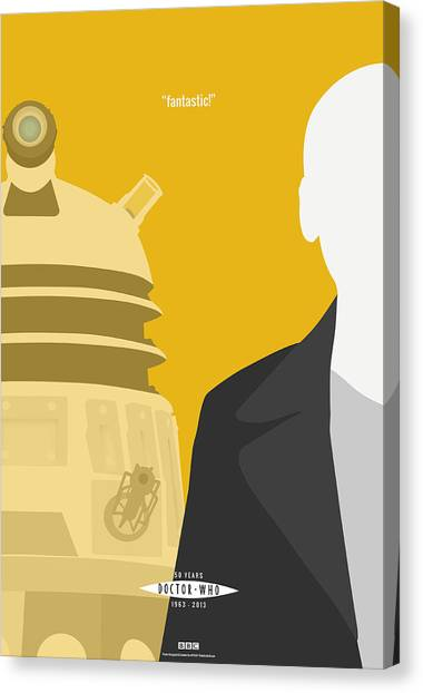 Doctor Who Canvas Print - Doctor Who 50th Anniversary Poster Set Nineth Doctor by Jeff Bell