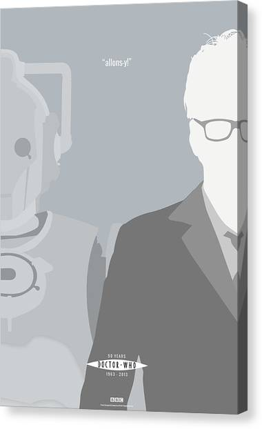 Doctor Who Canvas Print - Doctor Who 50th Anniversary Poster Set Tenth Doctor by Jeff Bell