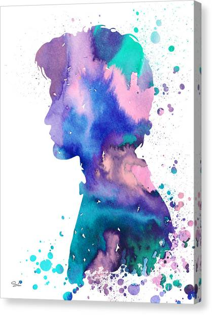 Tardis Canvas Print - Doctor Who  by Watercolor Girl