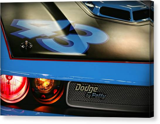 Daytona 500 Canvas Print - Dodge By Petty by Gordon Dean II