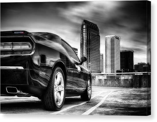Dodge Challenger Tampa Skyline  Canvas Print