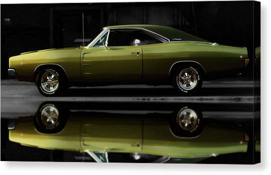 Dodge Canvas Print - Dodge Charger 68' by Scott Cummings