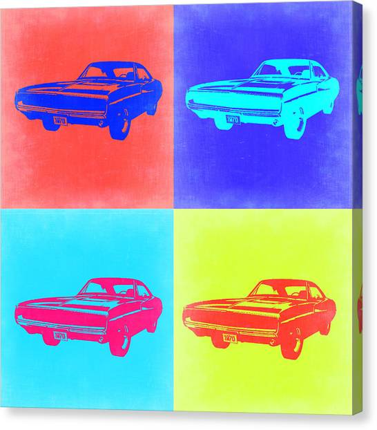 Muscle Cars Canvas Print - Dodge Charger Pop Art 1 by Naxart Studio