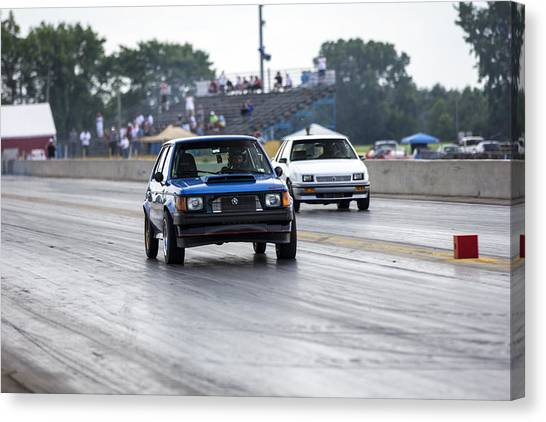 Dodge Omni Glh Vs Rwd Dodge Shadow - Without Times Canvas Print