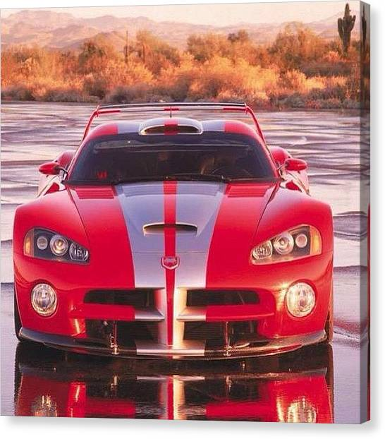 Vipers Canvas Print - #dodge #viper #muscle #ford #chevy by Keenan Zimmerman