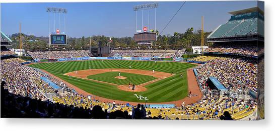 Dodger Stadium Panorama Canvas Print