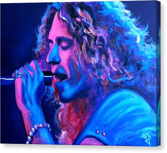 Robert Plant Canvas Print - Does Anybody Remember Laughter? by Tom Carlton