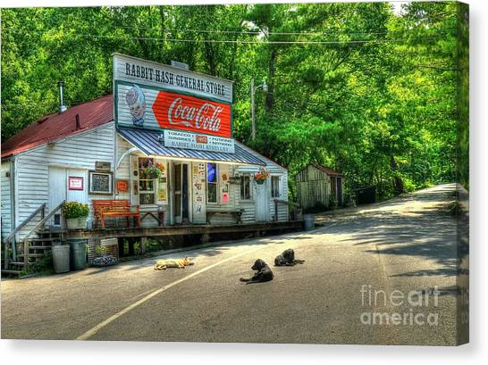 Coca Cola Canvas Print - Dog Day Afternoon by Mel Steinhauer