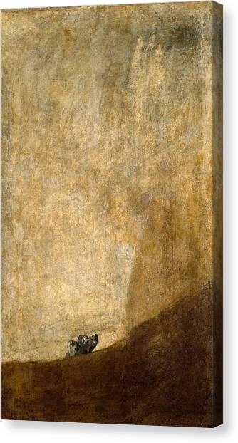 The Prado Canvas Print - Dog Half-submerged by Francisco Goya