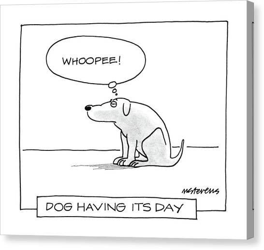 Psychology Canvas Print - Dog Having Its Day by Mick Stevens