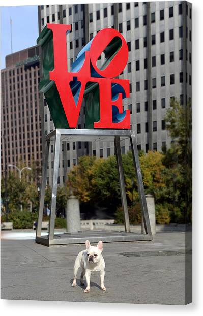 French Bull Dogs Canvas Print - Dog Love by Lisa Phillips