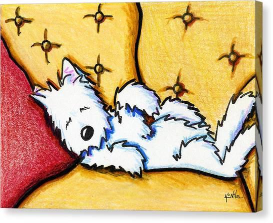 Dog Napped Canvas Print