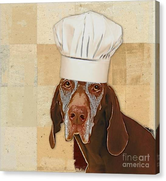 Dogs Canvas Print - Dog Personalities 56 Chef by Variance Collections