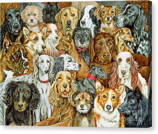 Breed Canvas Print - Dog Spread by Ditz