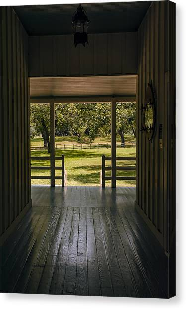 Lyndon Johnson Canvas Print - Dog Trot At Lbj Birthplace by Joan Carroll
