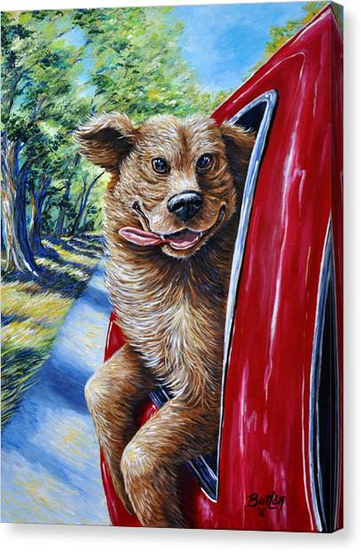 Dog...gone Happy Canvas Print