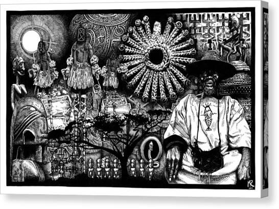 Dogon Dream Canvas Print