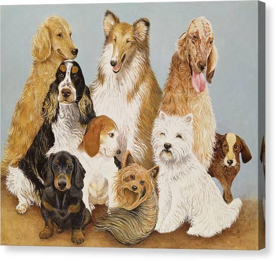 Golden Retriever Canvas Print - Dogs Dinner  by Pat Scott