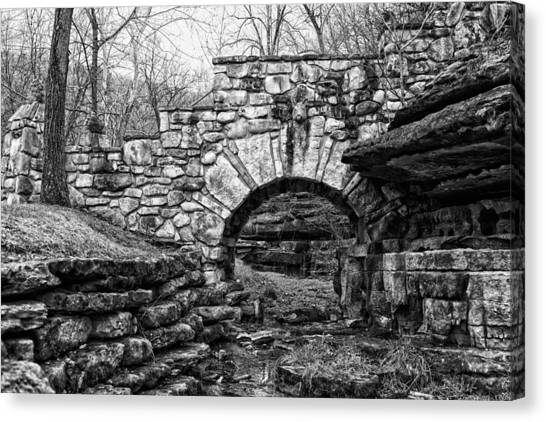 Dogwood Canyon Stone Bridge Canvas Print by David Waldo