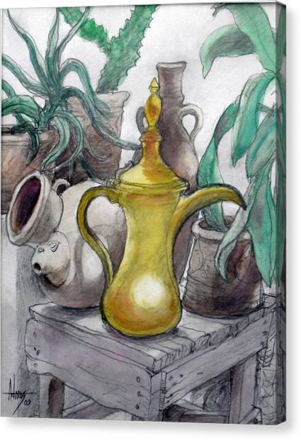 Doha Coffee Urn Canvas Print by Jack Adams