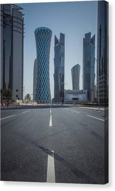 Doha Road Canvas Print by Charlie Tash