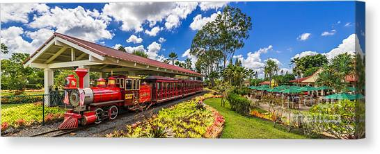 Dole Plantation Train 3 To 1 Aspect Ratio Canvas Print