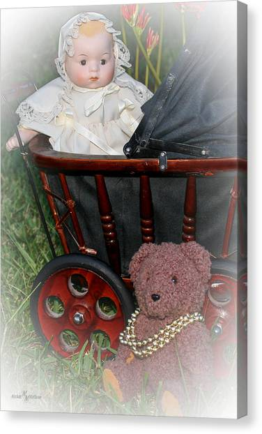 Doll And Teddy Canvas Print