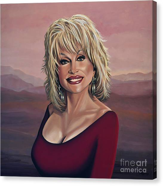 Tennessee Canvas Print - Dolly Parton 2 by Paul Meijering