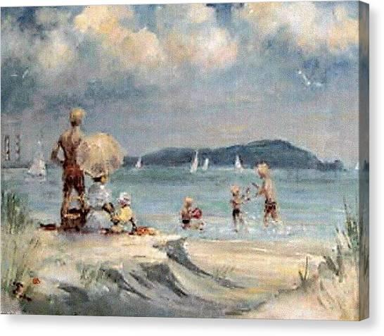 Dollymount Strand  Clontarf Canvas Print