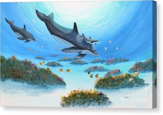 Dolphen Moves Canvas Print