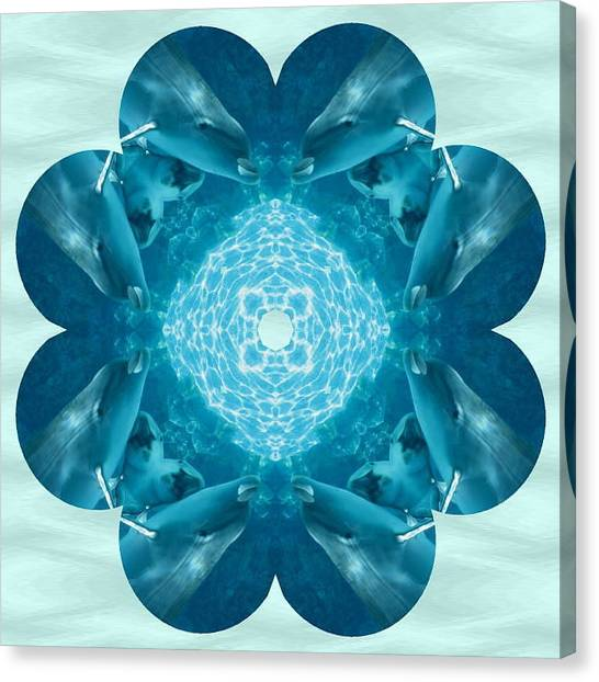 Dolphin Kaleidoscope Canvas Print