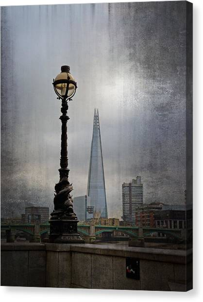 Dolphin Lamp Posts London Canvas Print