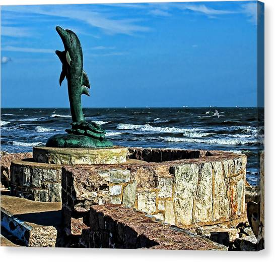 Dolphin Statue Canvas Print