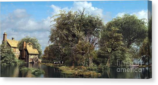 Weeping Willows Canvas Print - Domcast Final by Dominic Davison