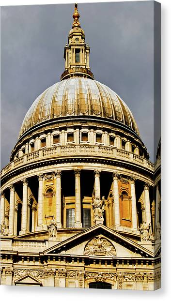 Bishop Hill Canvas Print - Dome Of St. Paul's Cathedral by Christi Kraft