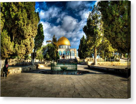 Dome Of The Rock Hdr Canvas Print