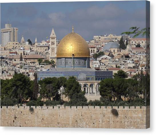 Dome On The Rock  Canvas Print