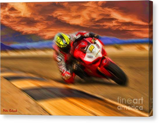 Domenic Caluori At Speed Canvas Print