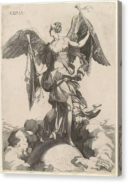 Gloria Canvas Print - Domenico Del Barbiere After Rosso Fiorentino by Quint Lox