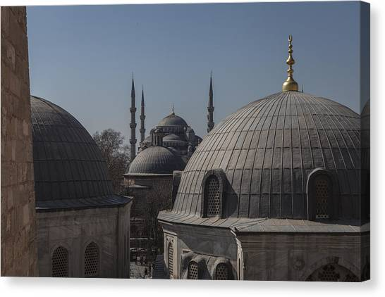 Domes And Minarets Canvas Print by Adriano Ficarelli