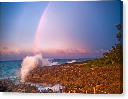 Dominican Rainbow Canvas Print