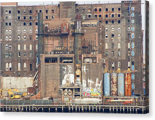 Domino Sugar Building Canvas Print