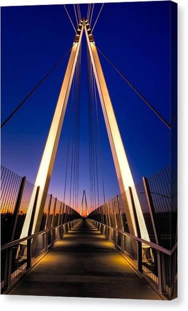 Interstates Canvas Print - Don Burnett Pedestrian And Bicycle Bridge by Alexis Birkill