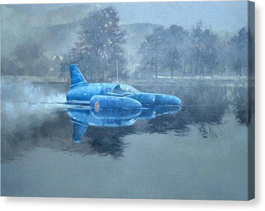 67 Canvas Print - Donald Campbell And Bluebird Oil On Canvas by Peter Miller