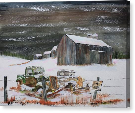 Done Farming Canvas Print