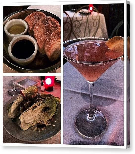 Martini Canvas Print - Done With Training And Having Dinner by Lisa-marie Jordan