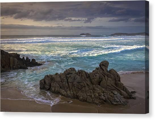 Doninos Beach Ferrol Galicia Spain Canvas Print