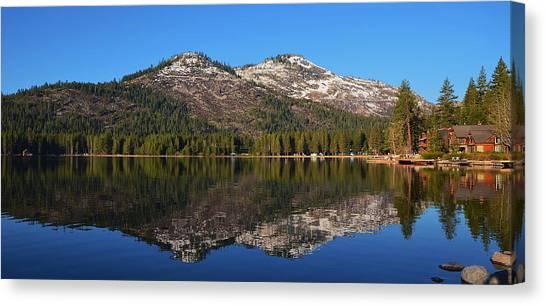 Donner Lake Reflection Canvas Print