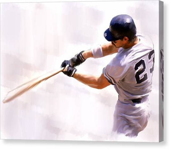 Donnie Ballgame Don Mattingly  Canvas Print